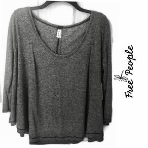 Free People Heather Gray Top.